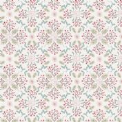 Lewis & Irene - Winter in Bluebell Wood - 6694 -  Winter Floral on Pale Grey - C45.1 - Cotton Fabric
